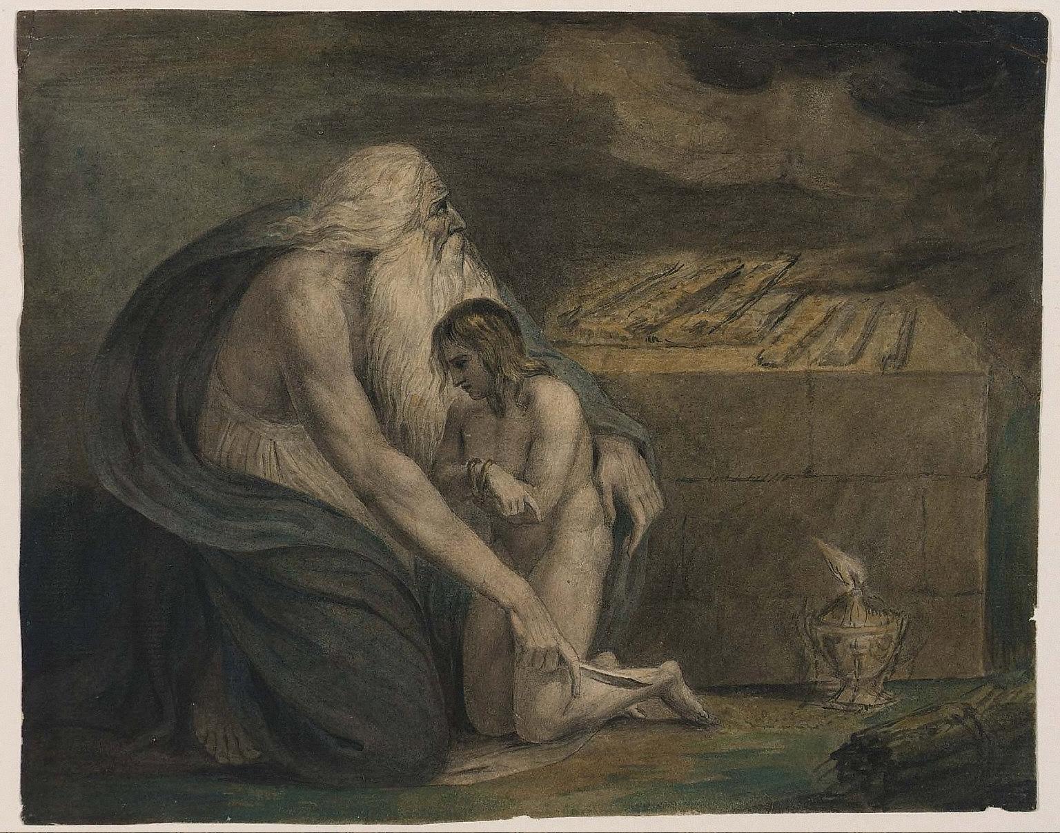 Abraham Preparing to Sacrifice Isaac (Genesis, XXII, 9-12)