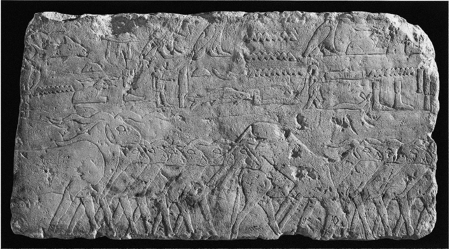 Fragment of relief from the mastaba of Sekhemankhptah