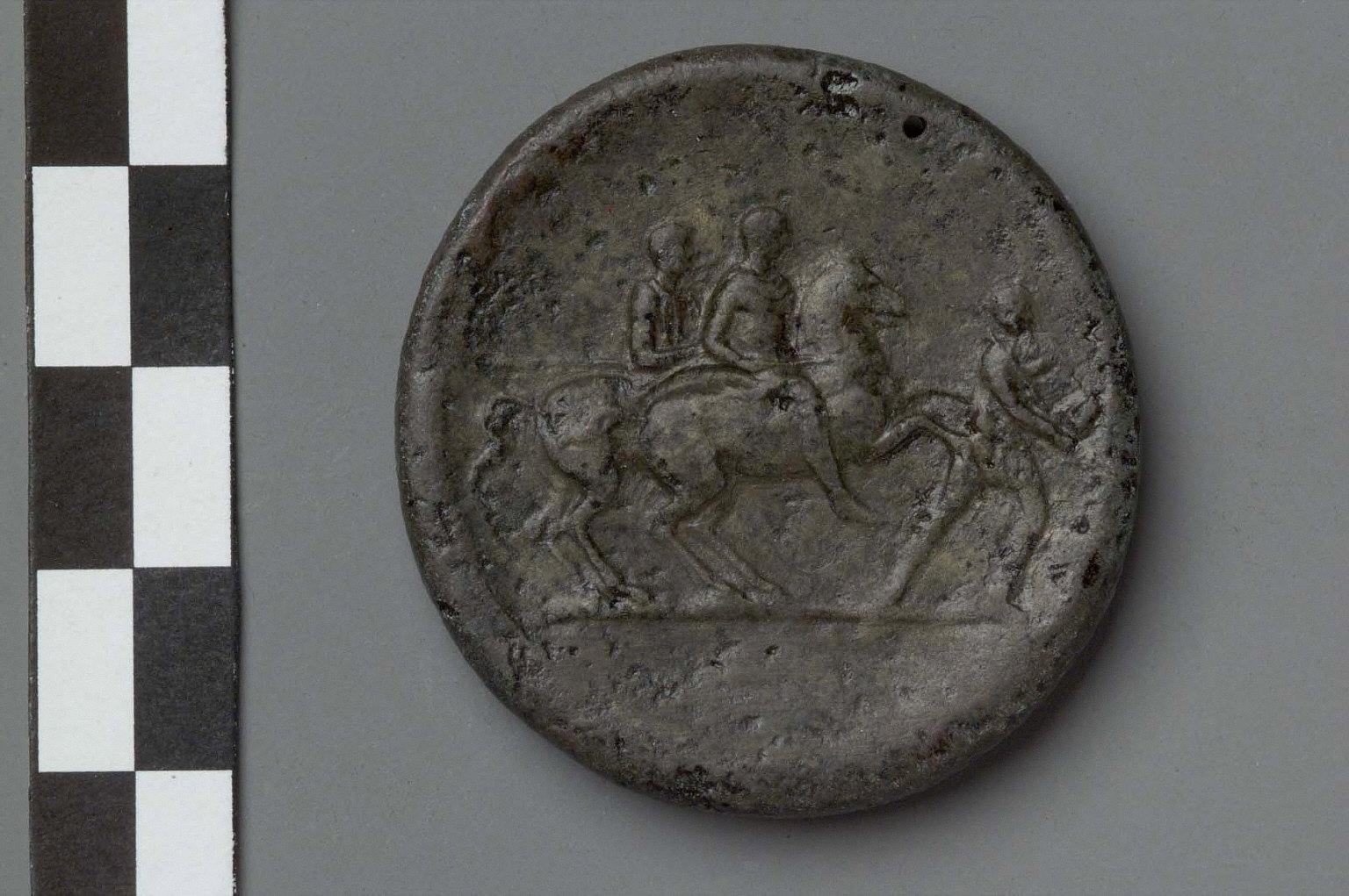 Bronze medallion with head of Hadrian