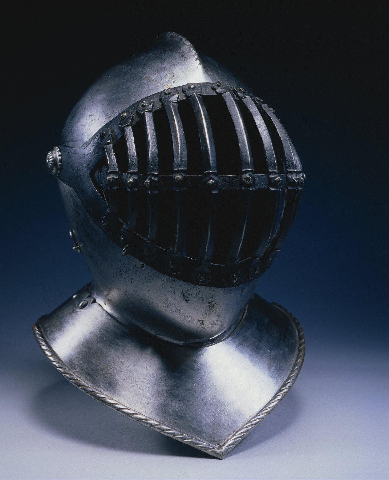 Helmet with Barred Visor