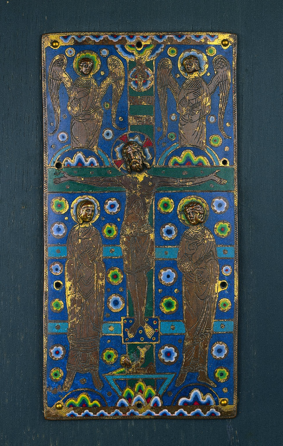 Plaque from a Book Cover Showing the Crucifixion