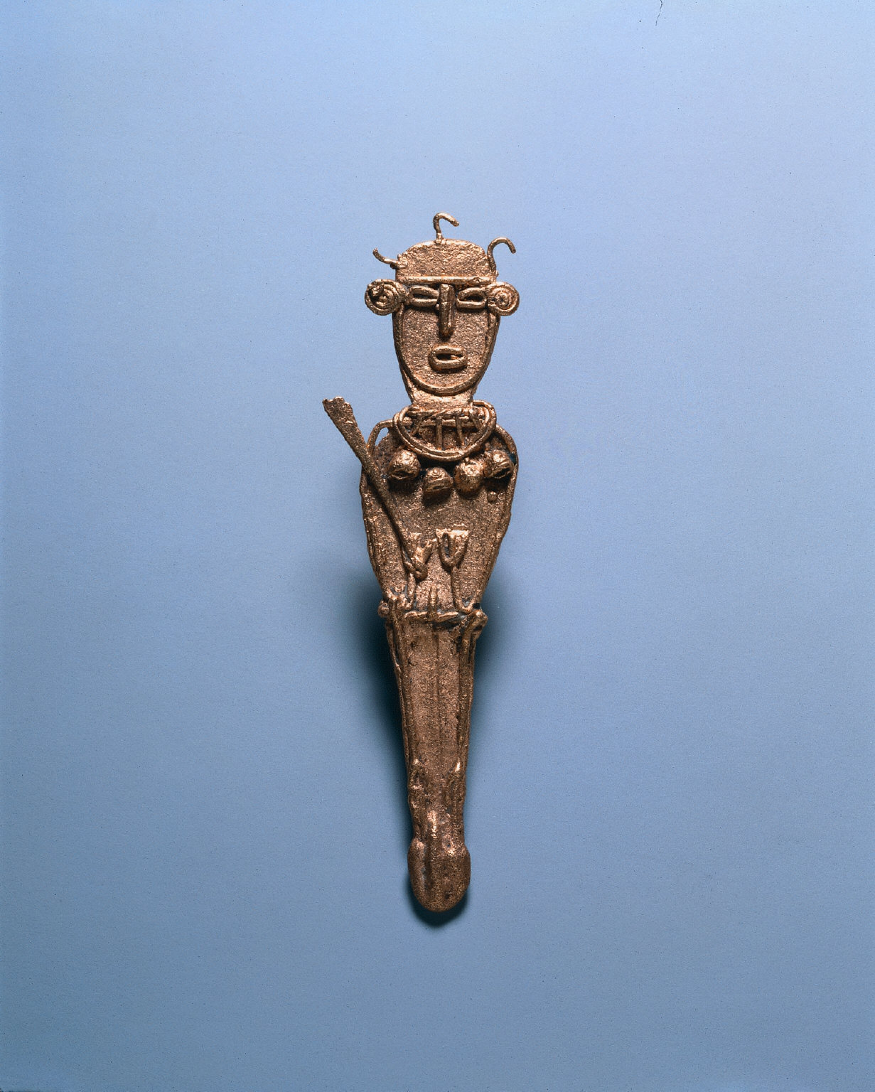 Votive Figurine Wearing Necklace with Bells