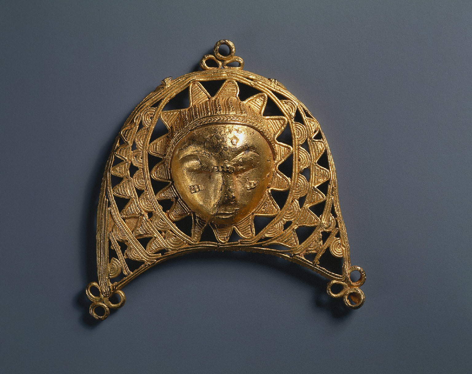 Jewelry: Face in Crescent