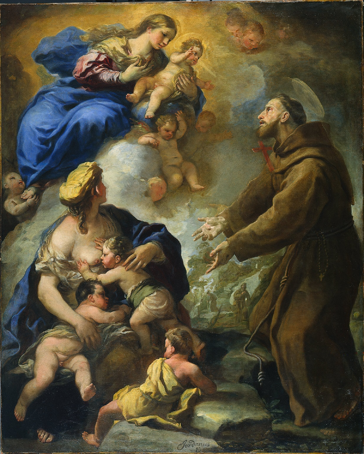 The Virgin and Child Appearing to St. Francis of Assisi