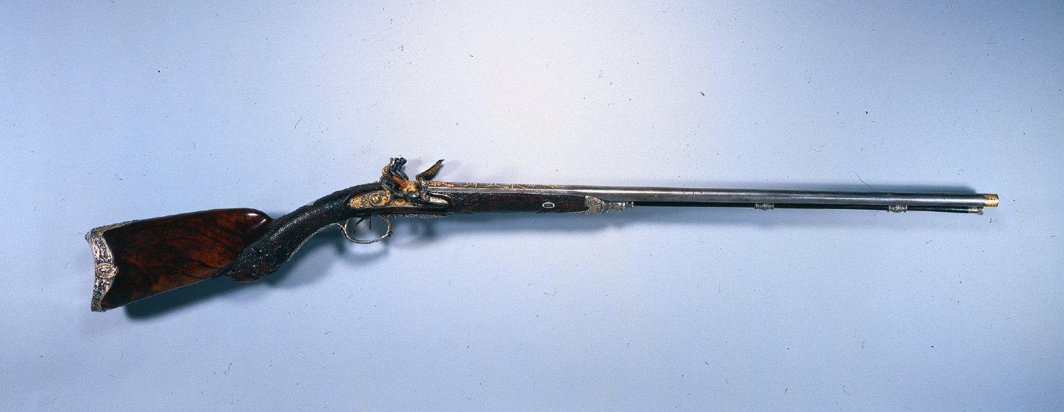 Double Barrelled Flintlock Sporting Gun