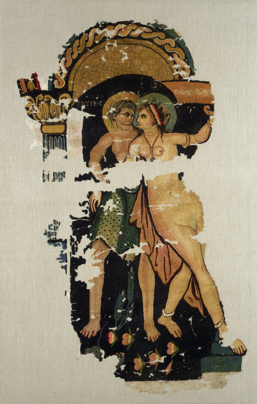 Satyr and Maenad from a Large Curtain