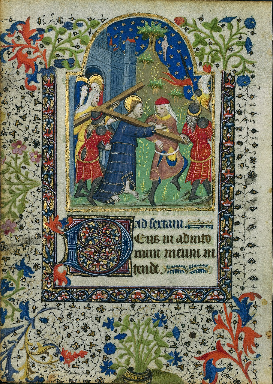 Christ Carrying the Cross: Leaf from a Book of Hours