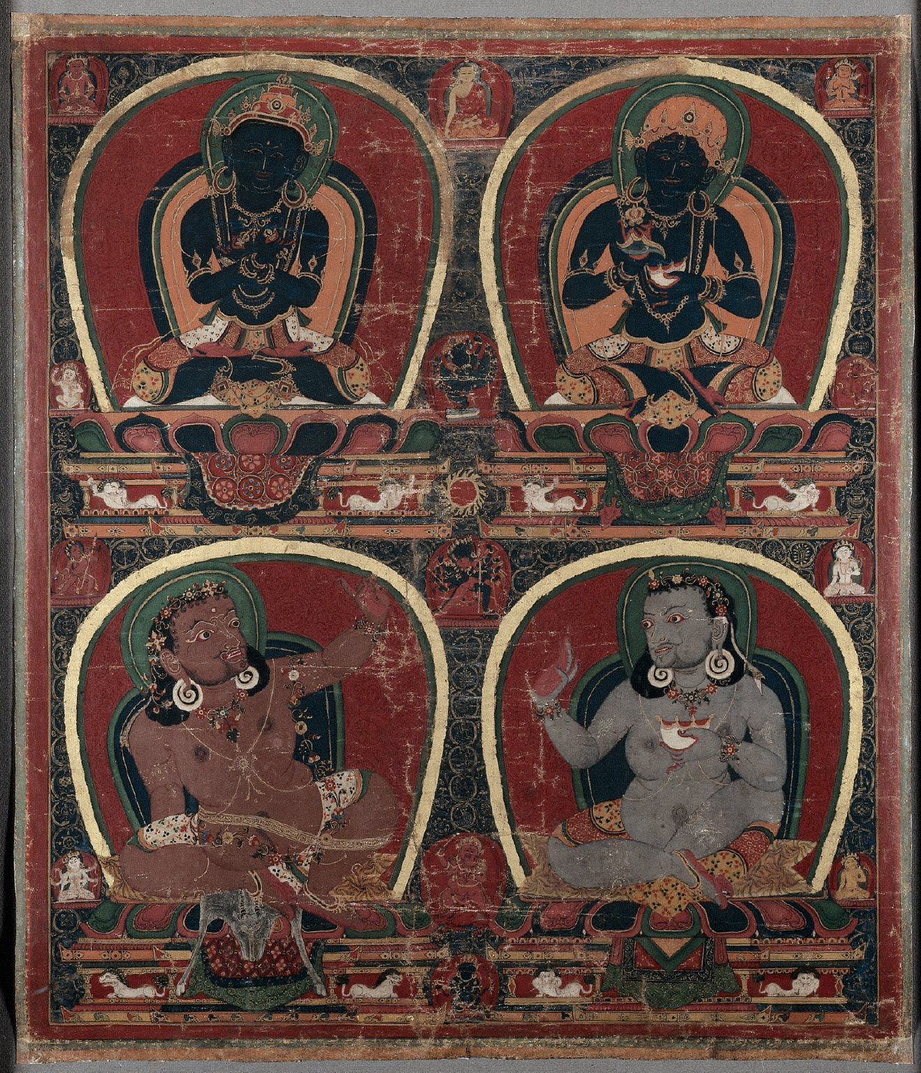 Pata with Four Figures