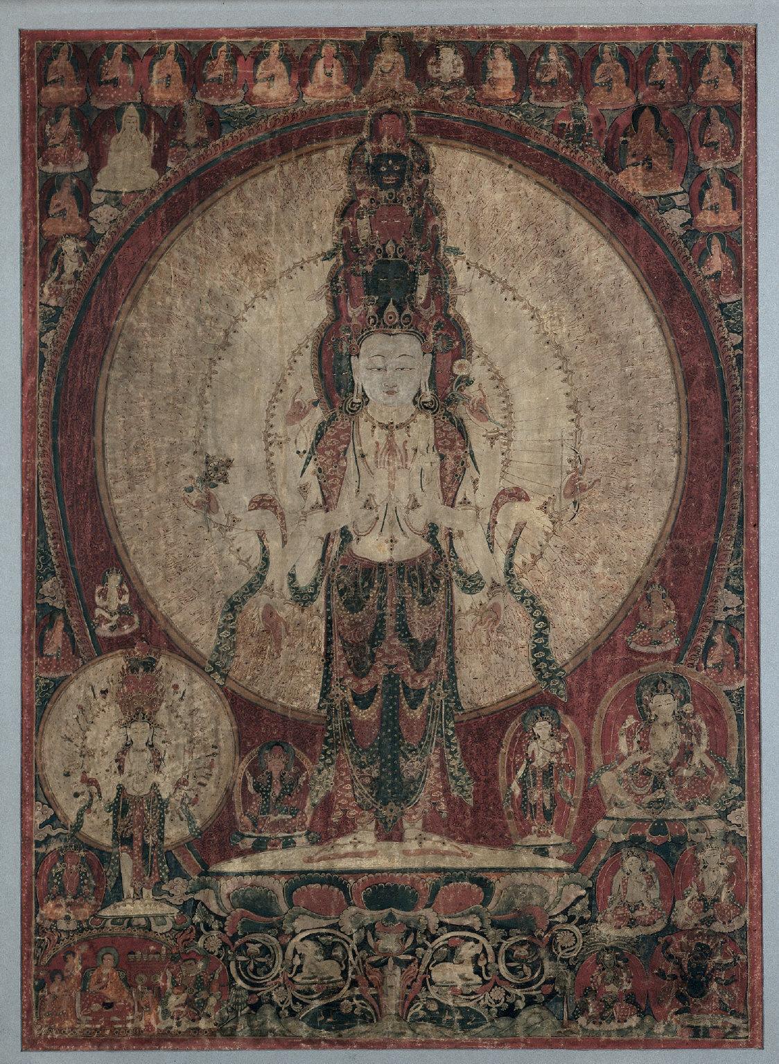 Thangka of Eleven-Headed Avalokitesvara
