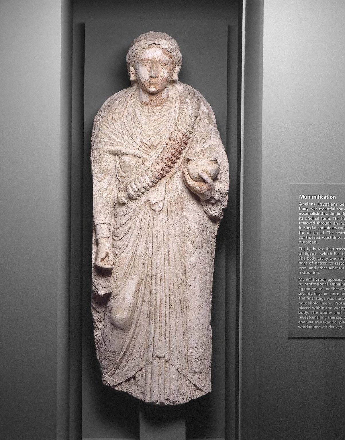 Portrait stele of a woman