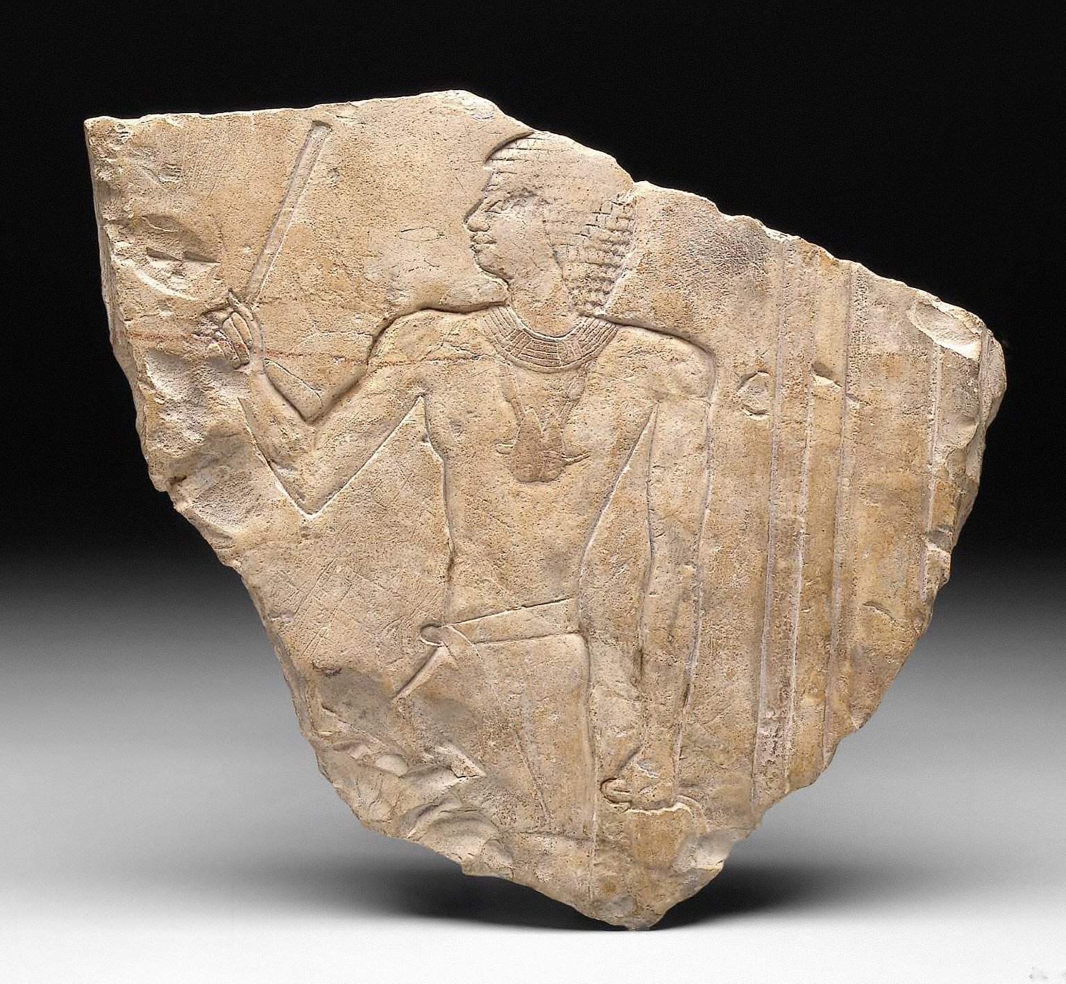 Archaizing relief of a man