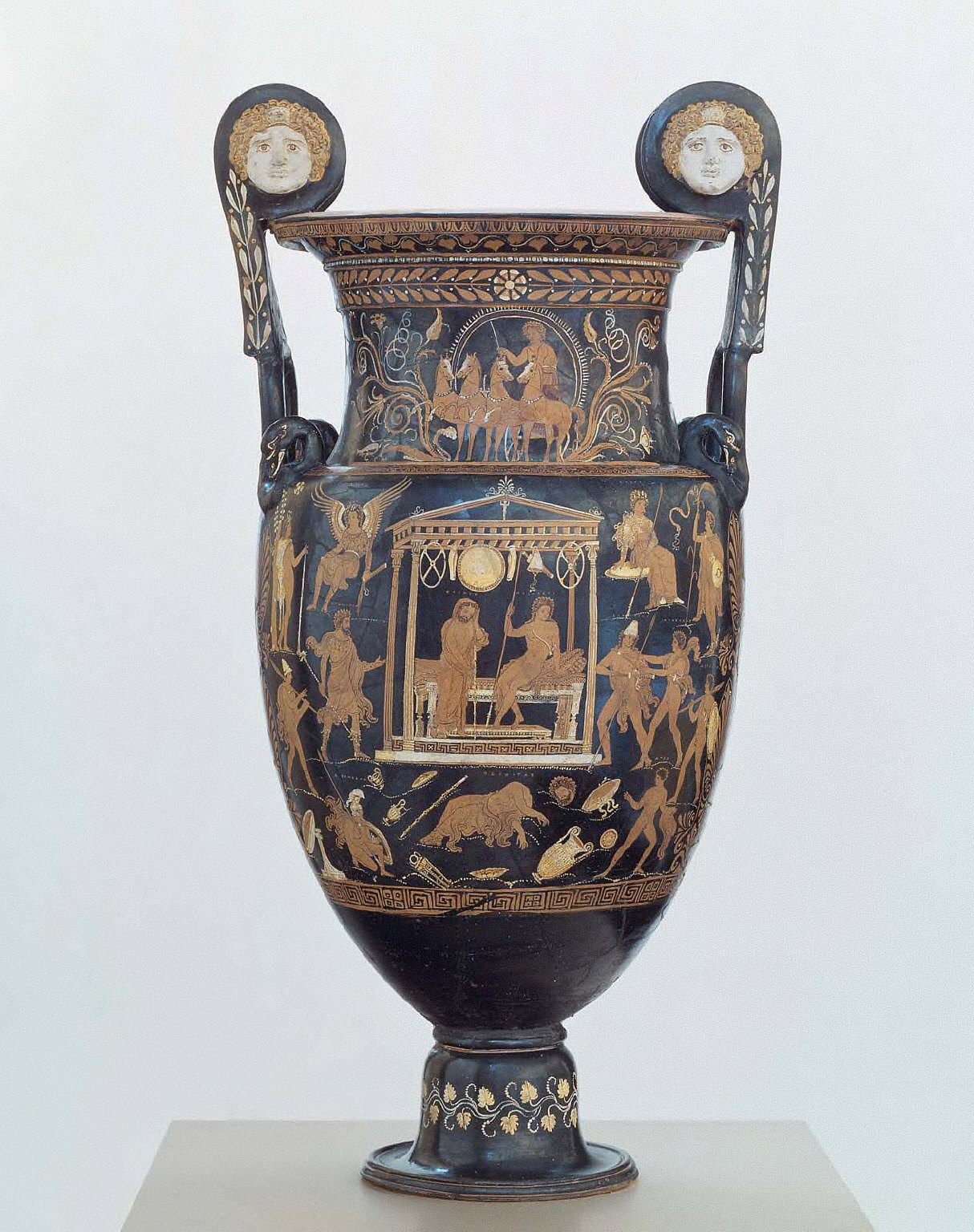 Vessel for mixing wine and water (volute krater)