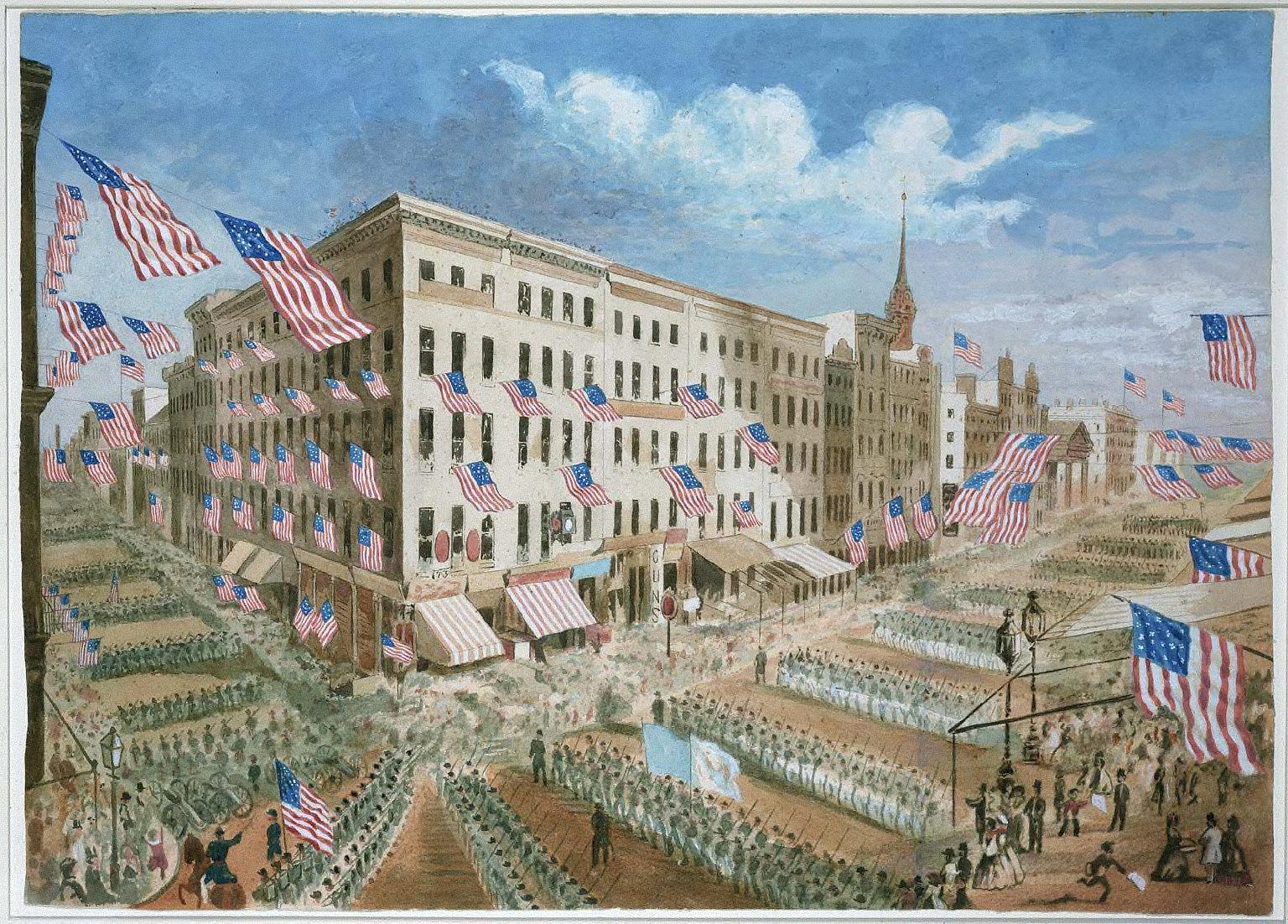 Departure of the 7th Regiment, N.Y. S.M. , April 19, 1861