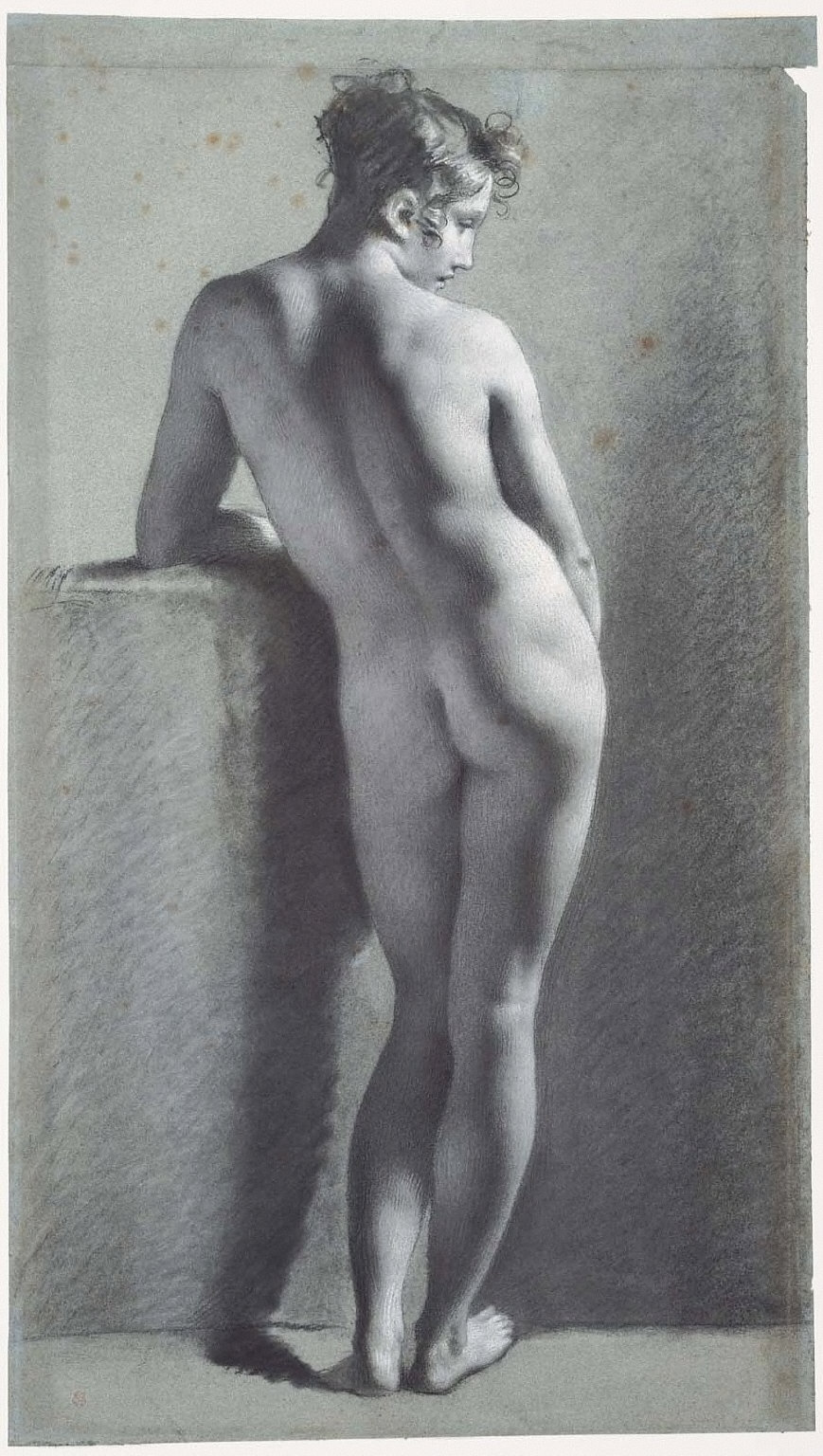 Standing Female Nude, Seen from Behind