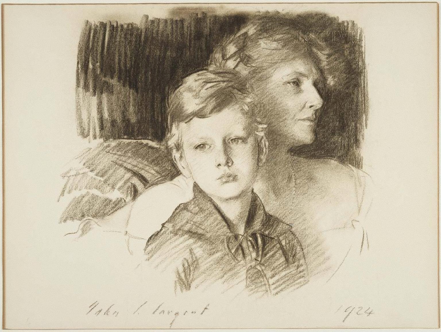 Charlotte Nichols Greene and her Son Stephen, 1924