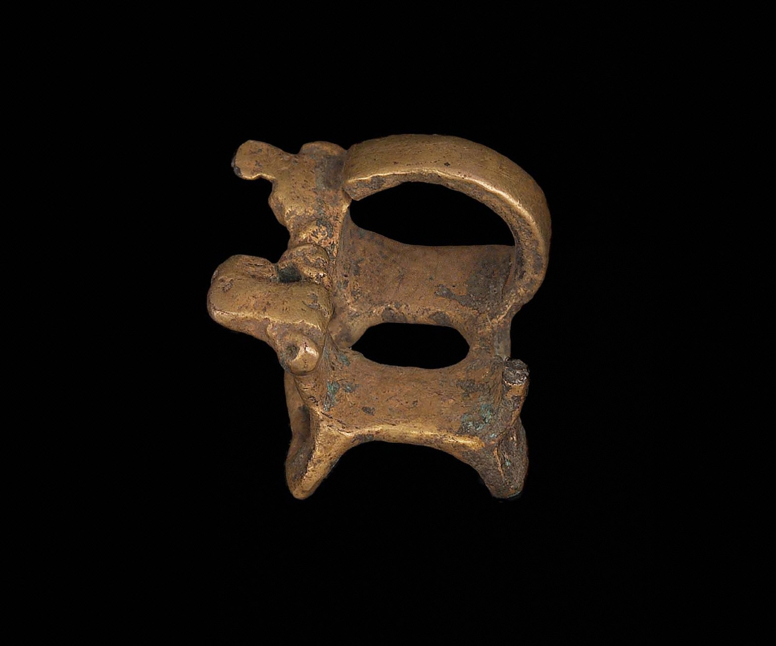 Double animal effigy pendant