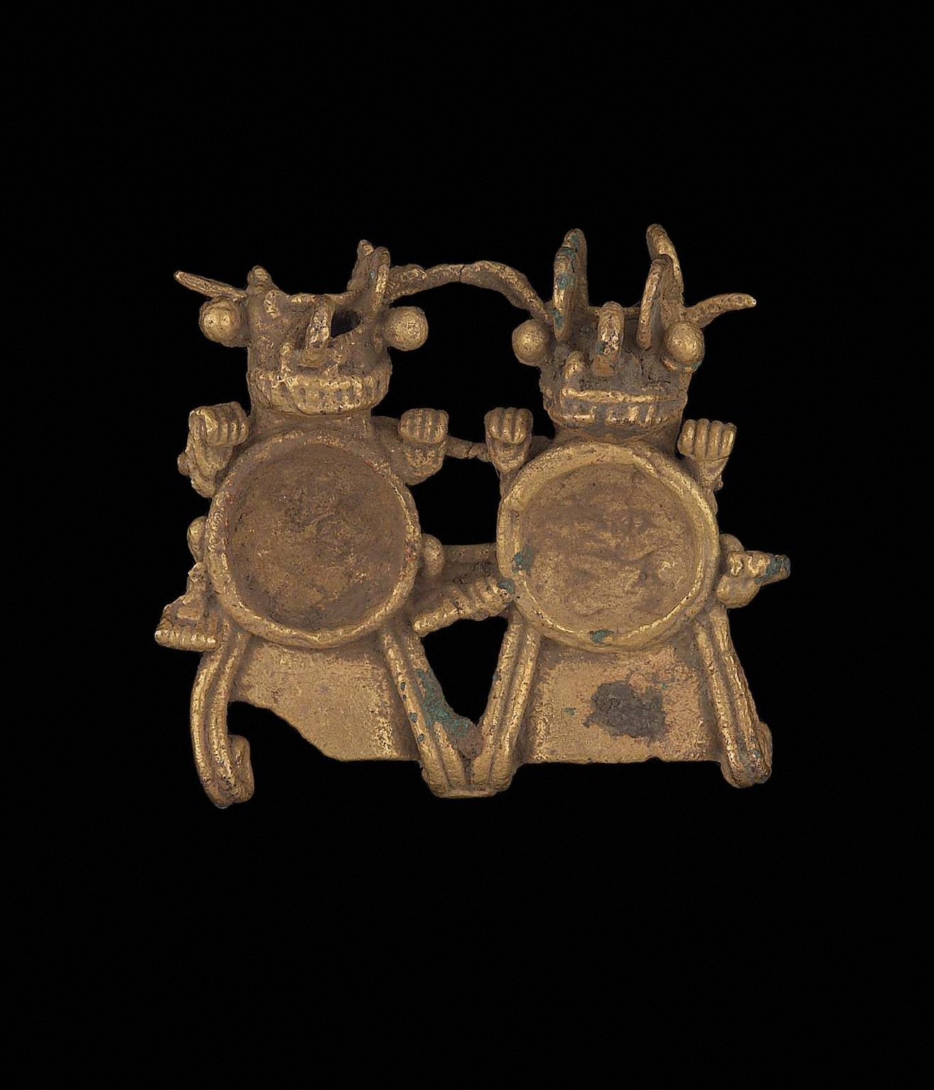 Double zoomorphic effigy pendant