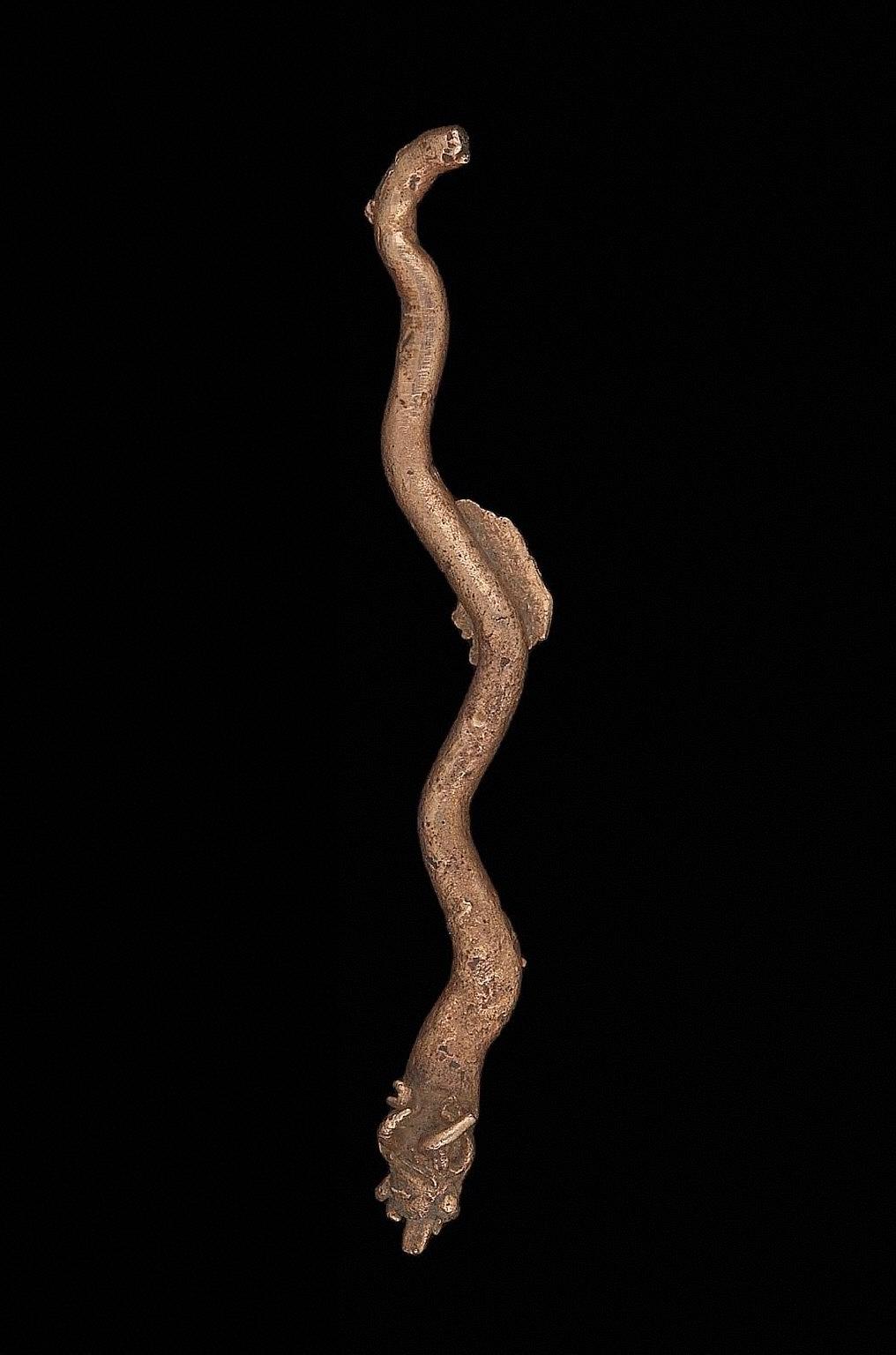 Deer-headed serpent effigy