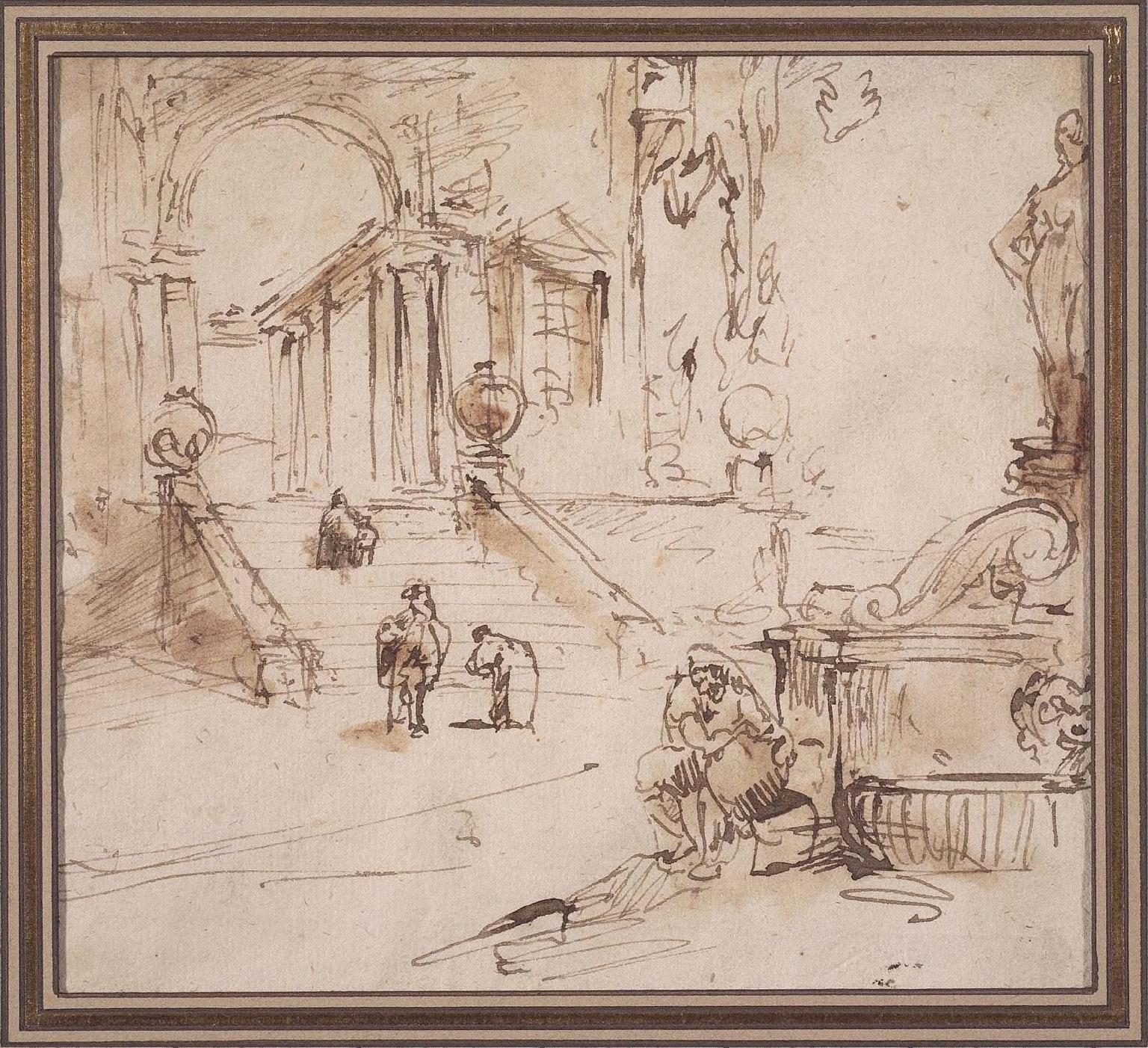 Architectural Capriccio with Fountain