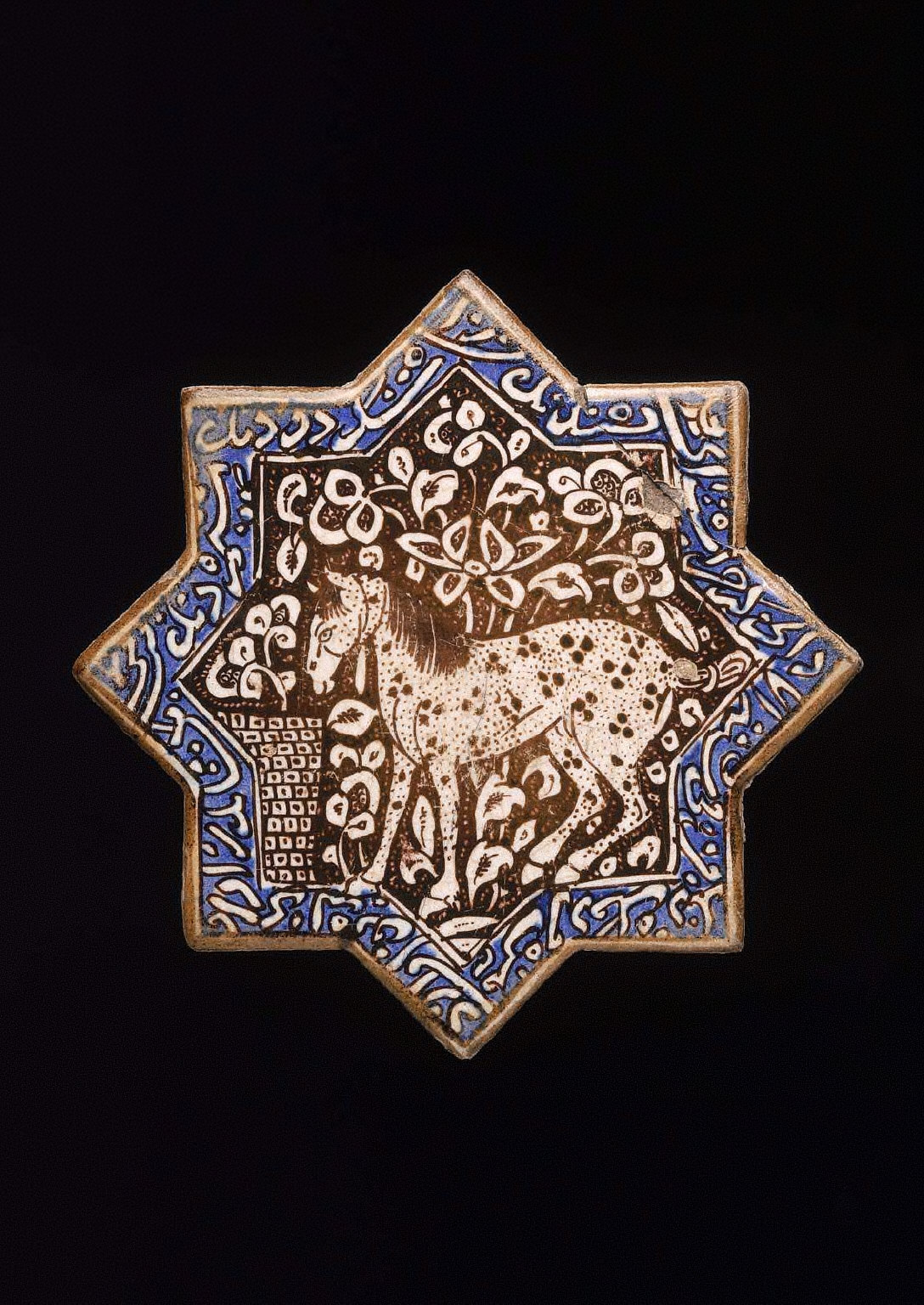 Star tile with horse