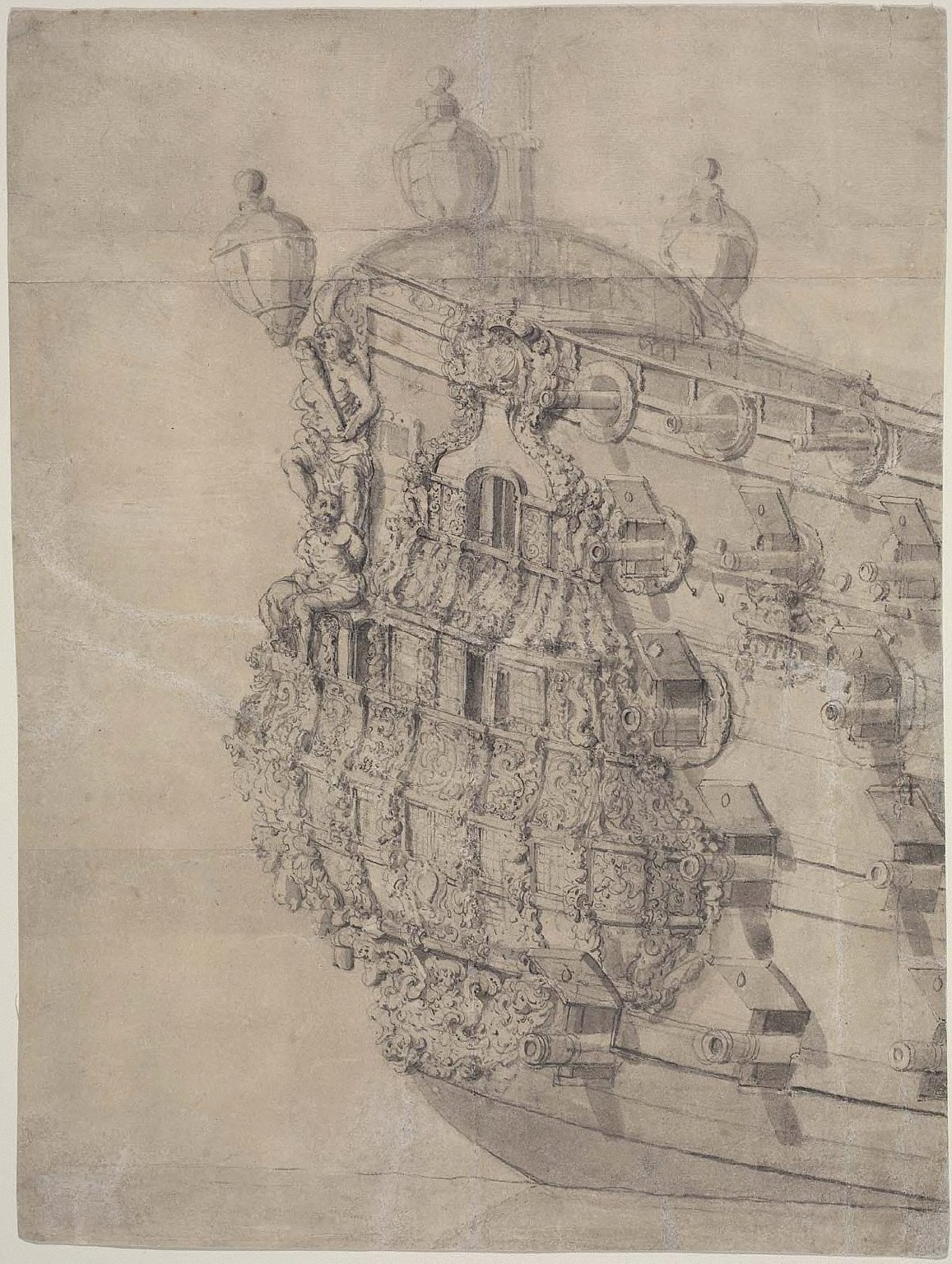 Starboard Quarter-Gallery of English Man-o'-War