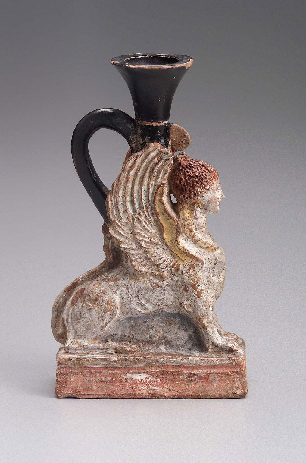 Lekythos in the form of a sphinx