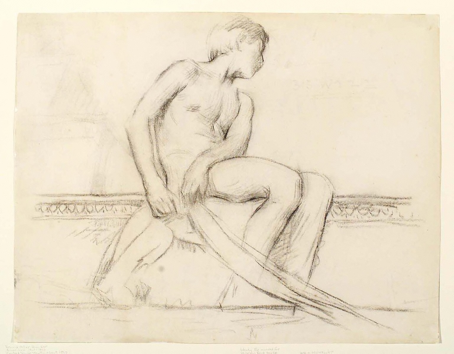 Seated Nude Youth