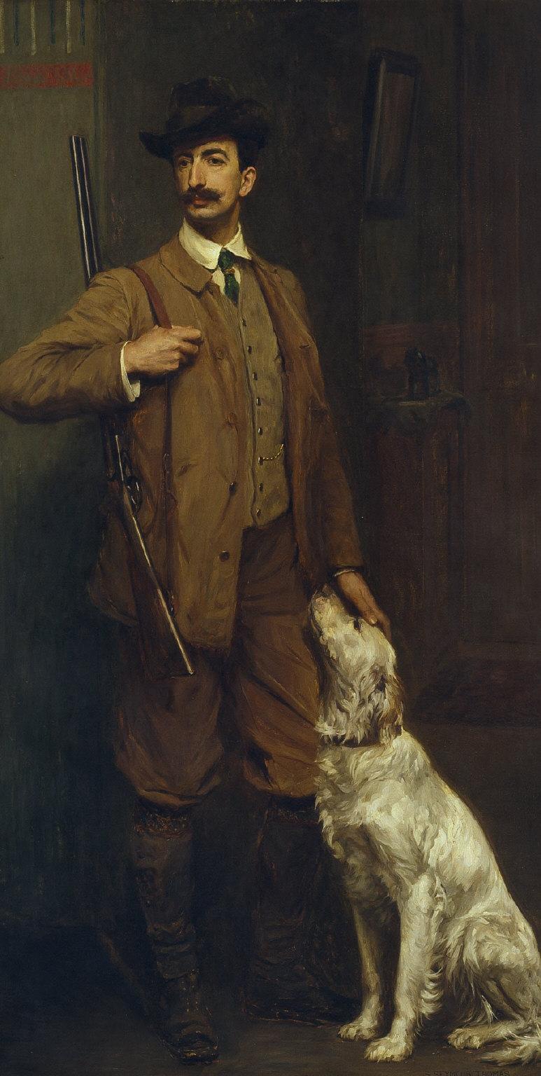 Vicomte de Manneville and His Dog