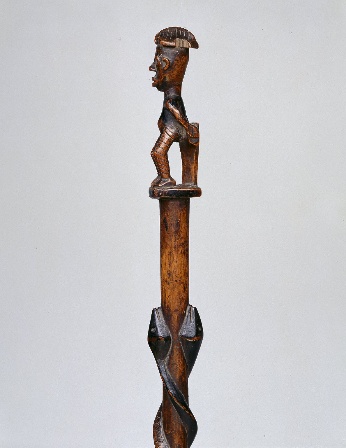 Staff with Figure and Snakes