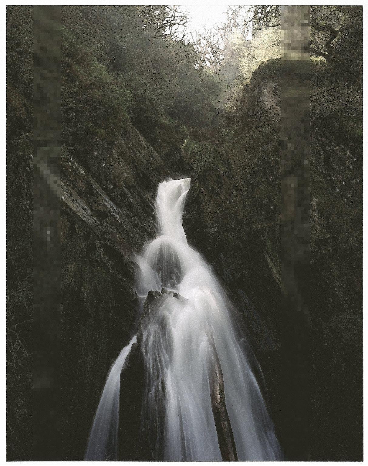 Mynach Falls at Devil's Bridge, North Wales