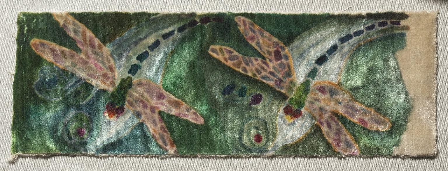 Stencilled Velvet