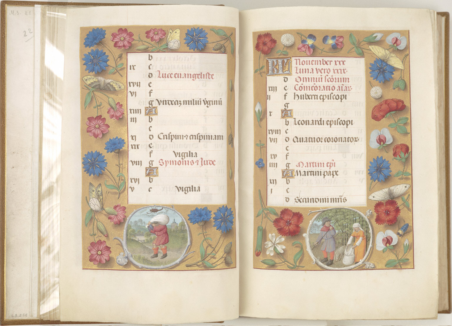Hours of Queen Isabella the Catholic, Queen of Spain: November, fol. 12 (recto)