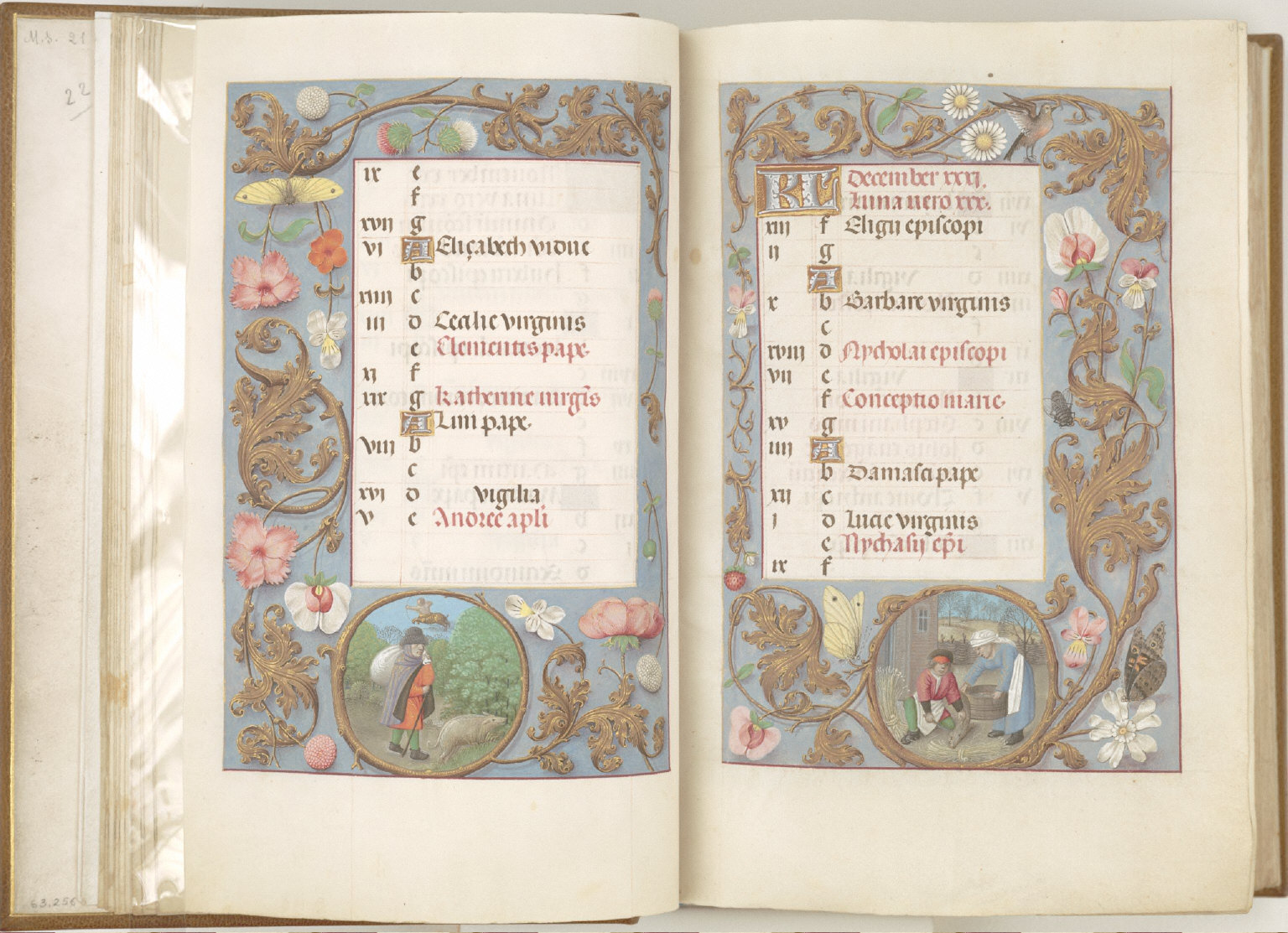 Hours of Queen Isabella the Catholic, Queen of Spain: November, fol. 12 (verso)