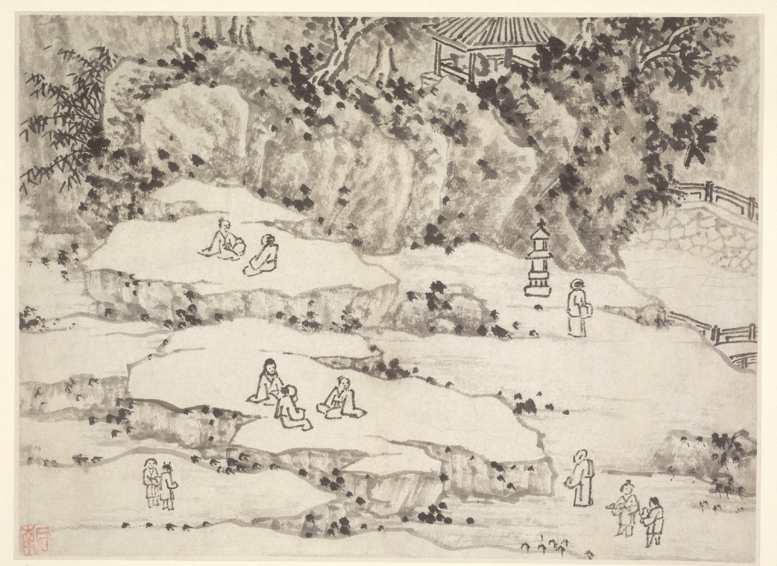 Twelve Views of Tiger Hill, Suchou: The Nodding Stone Terrace, Tiger Hill, and the Thousand-Man Seat