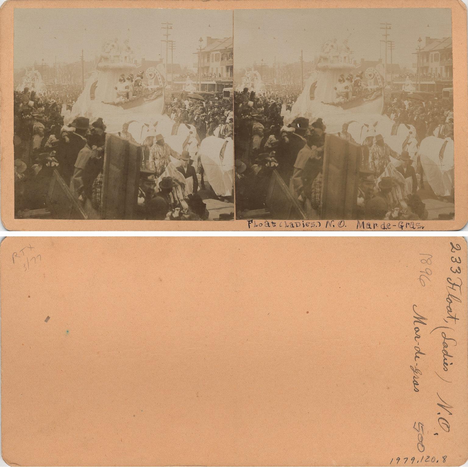 Mardi Gras parade February 1896