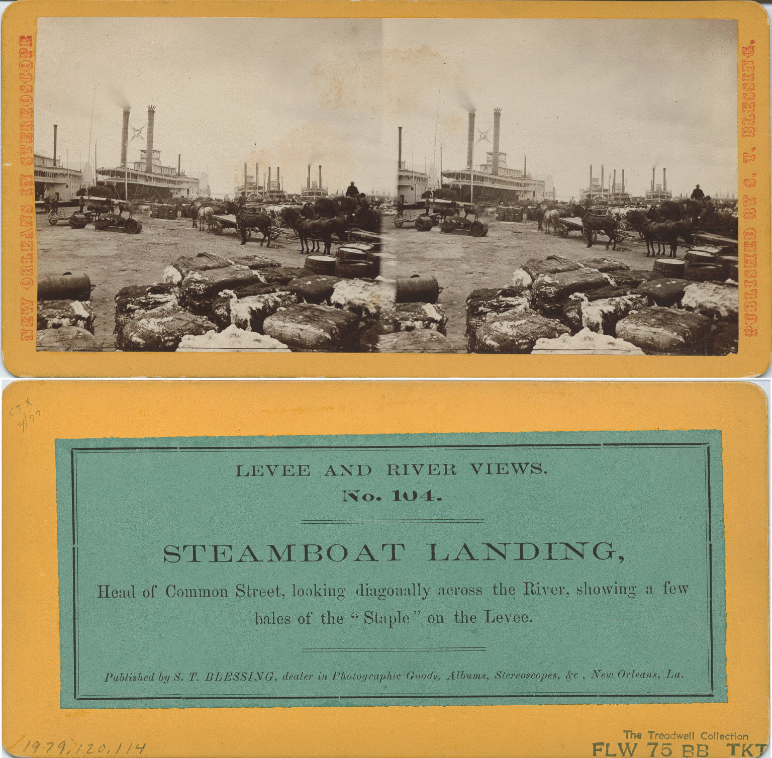 Steamboat landing head of Common Street