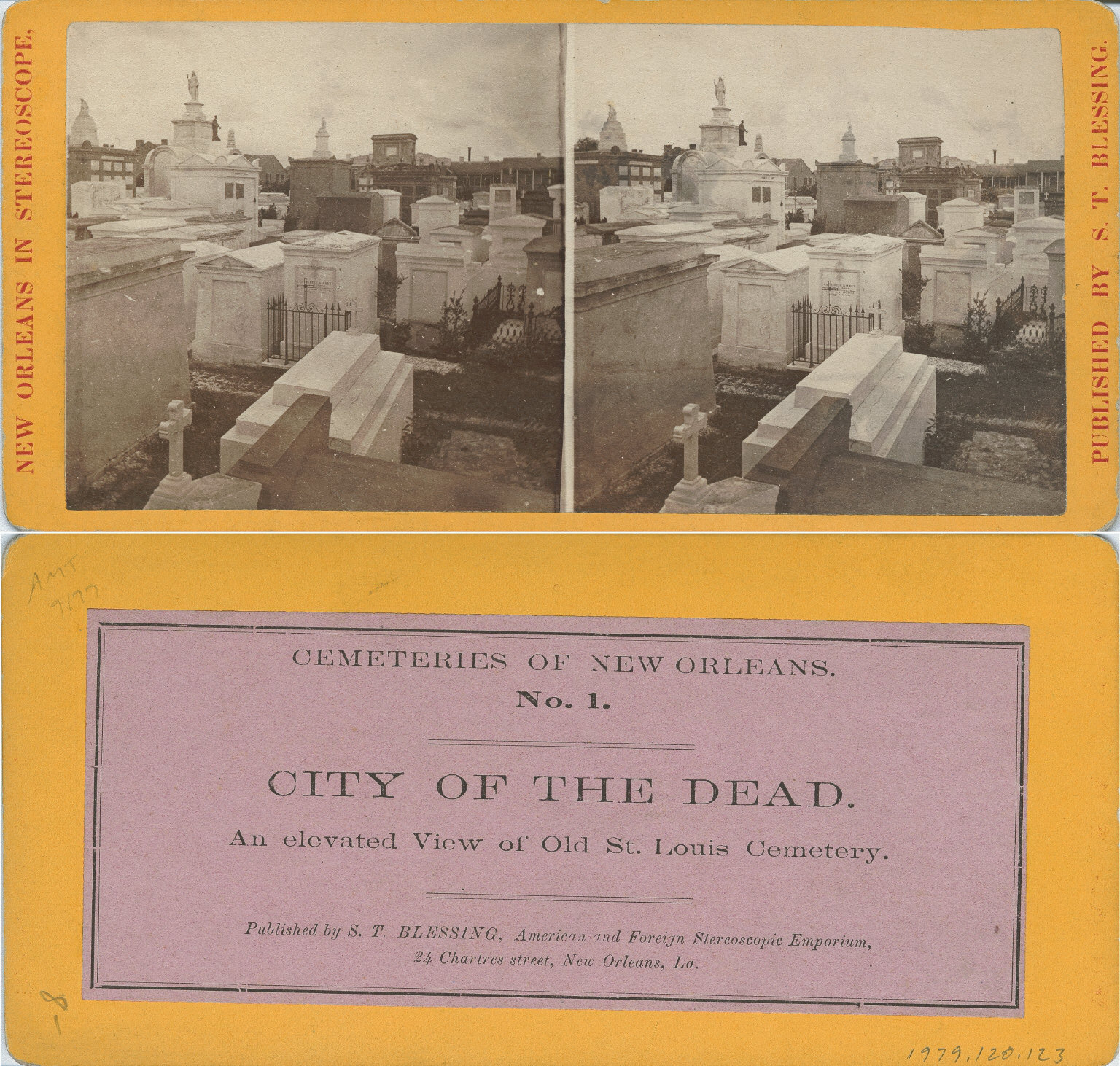 City of the dead an elevated view of old St. Louis Cemetery