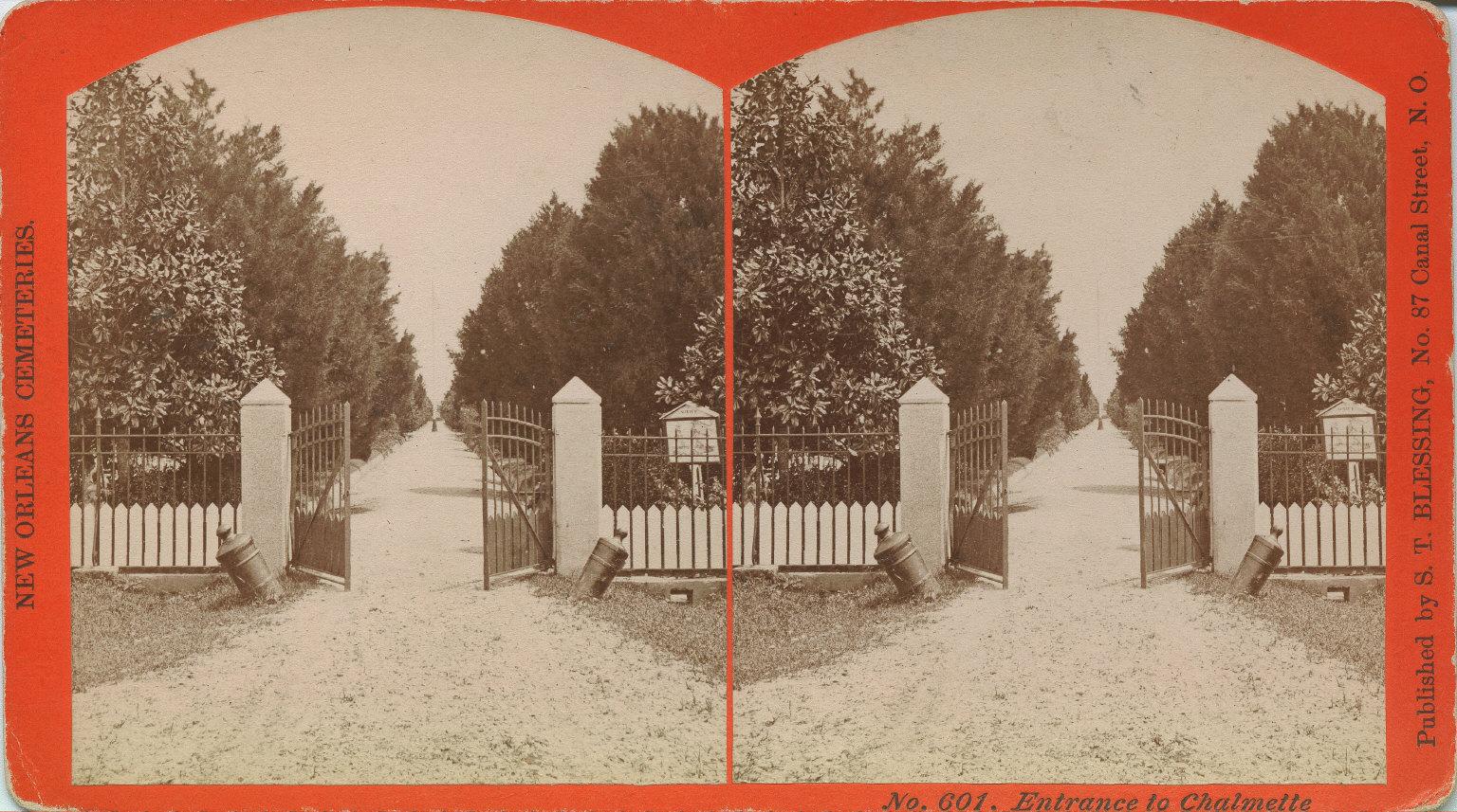 Entrance to Chalmette Cemetery
