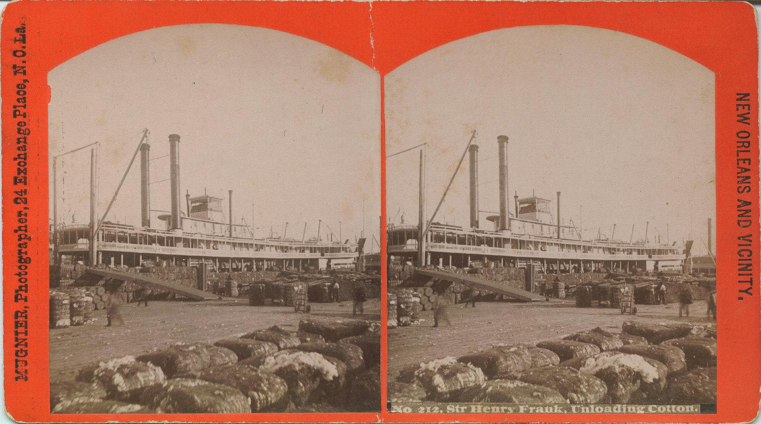 Sir Henry Frank unloading cotton