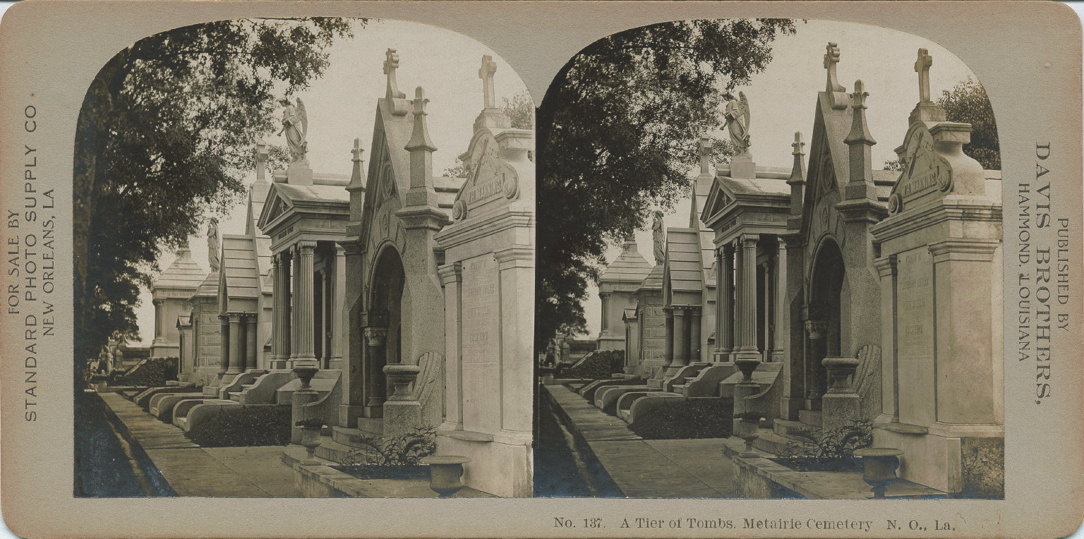 Tier of tombs Metairie Cemetery
