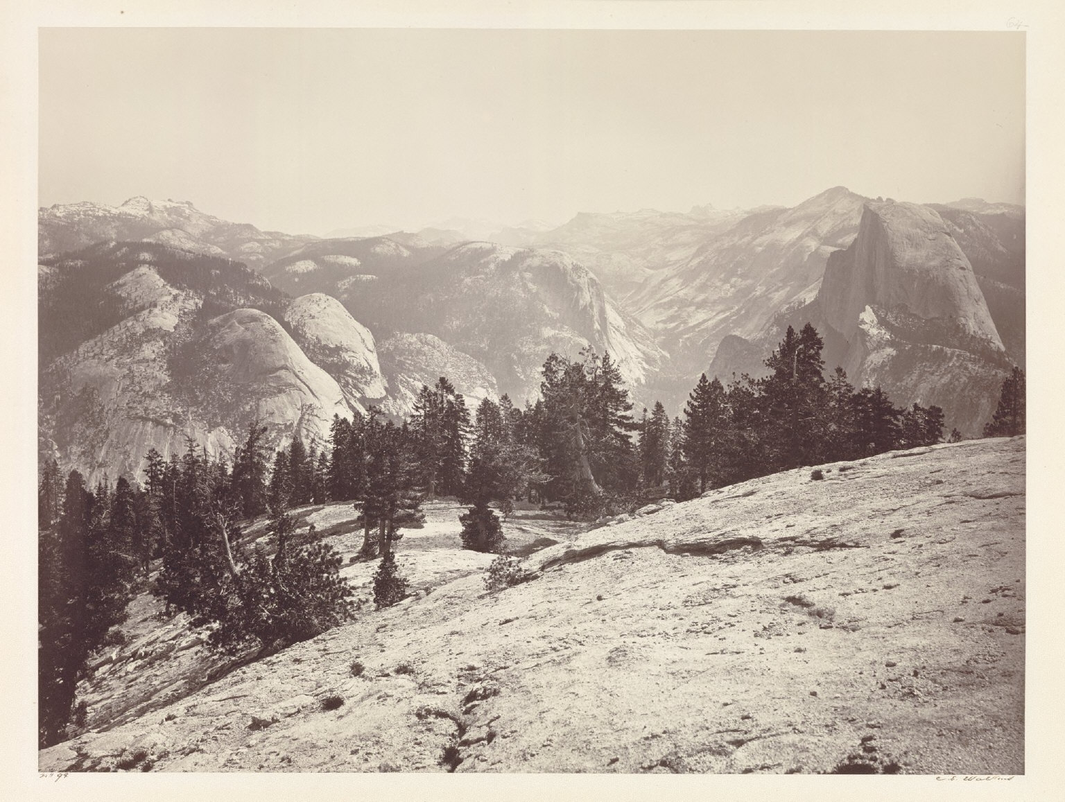 The Domes, from the Sentinel Domes, Yosemite