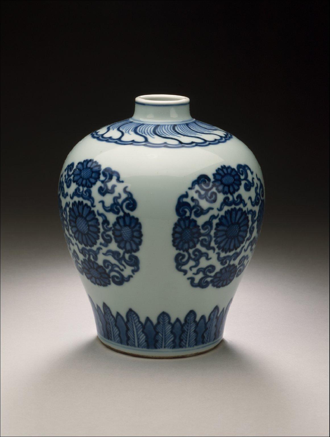 Jar (Ping) with Chrysanthemum Medallions