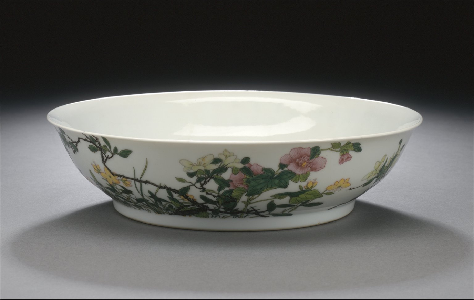 Bowl (Wan) with St. John's Wort, Rose Mallow, Gardenia, and Poem