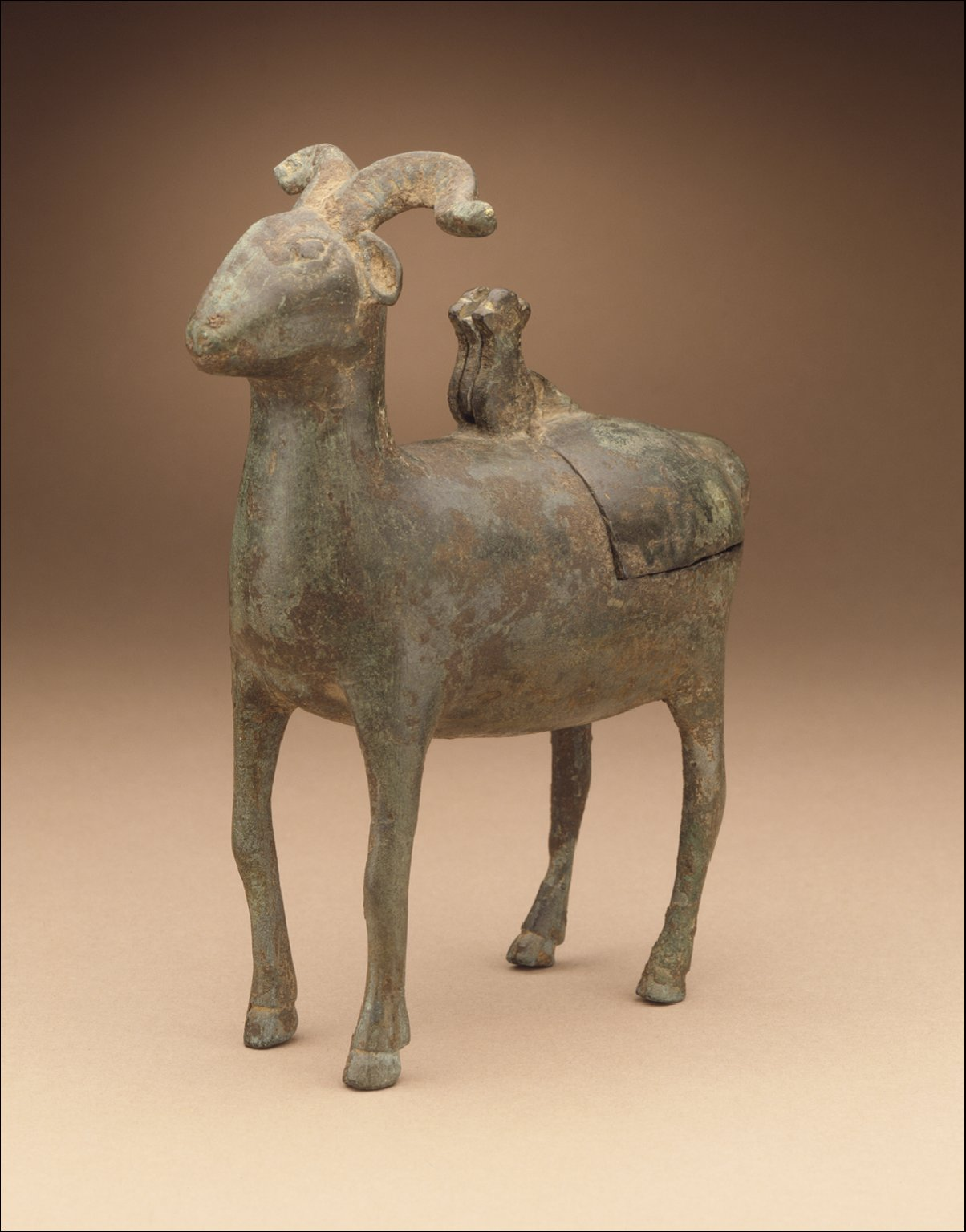 Lamp (Deng) in the Form of a Ram
