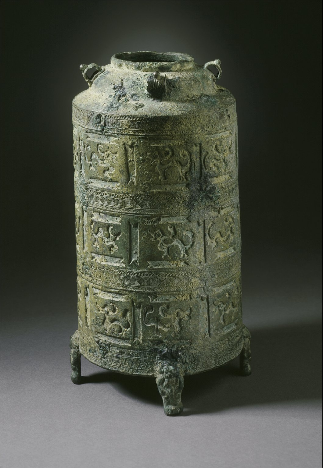 Container with Supernatural Creatures and Four Legs in the Form of Bears