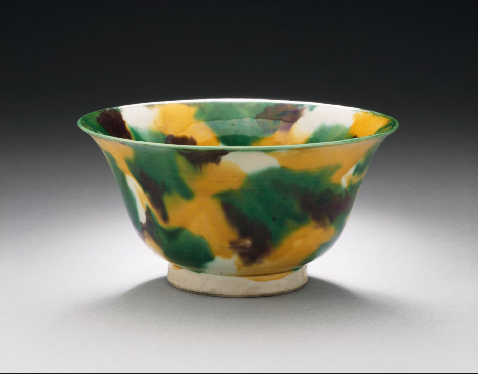 Bowl (Wan) with Polychrome Splashes