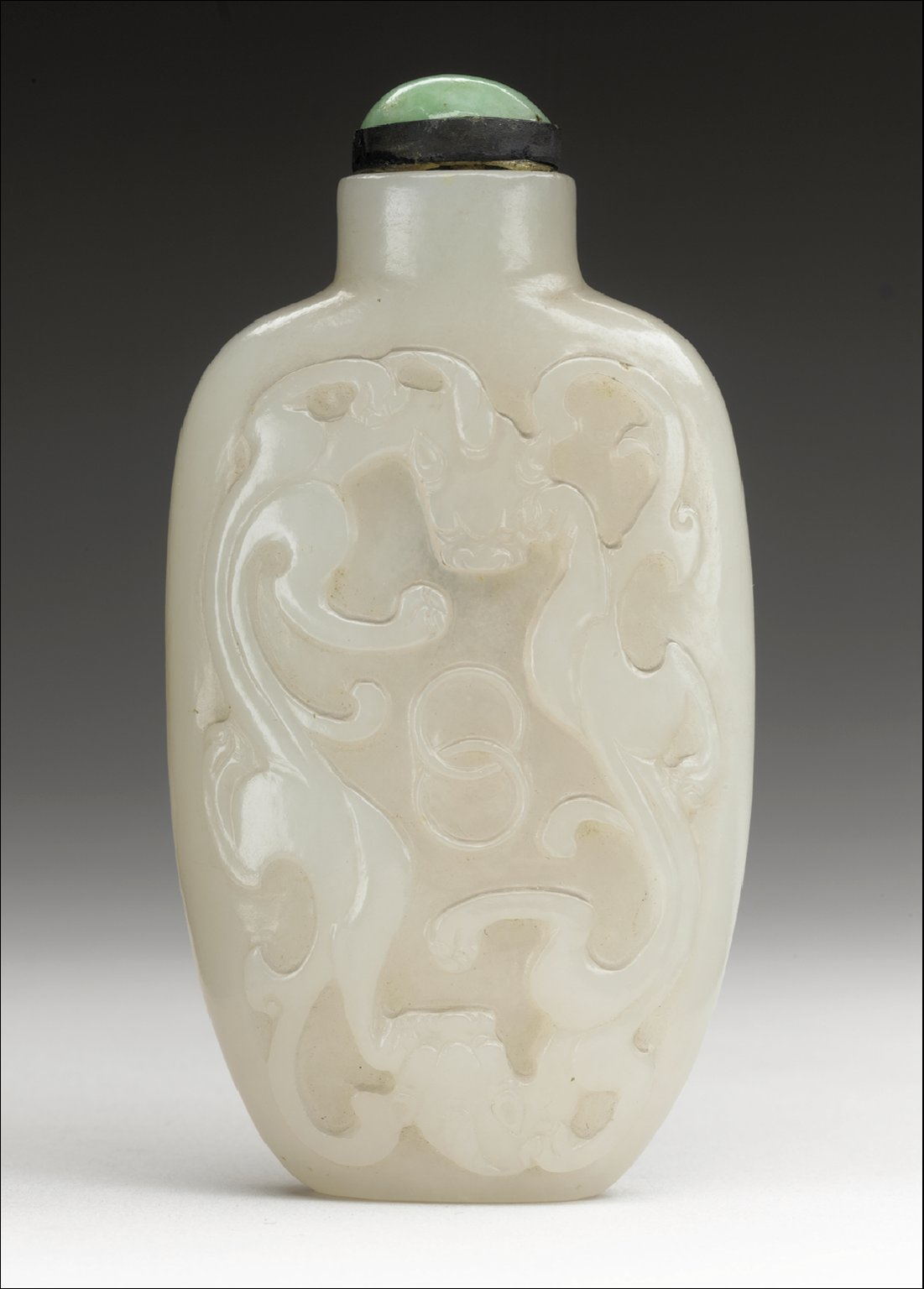 Snuff Bottle (Biyanhu) with Five Bats (Wufu)