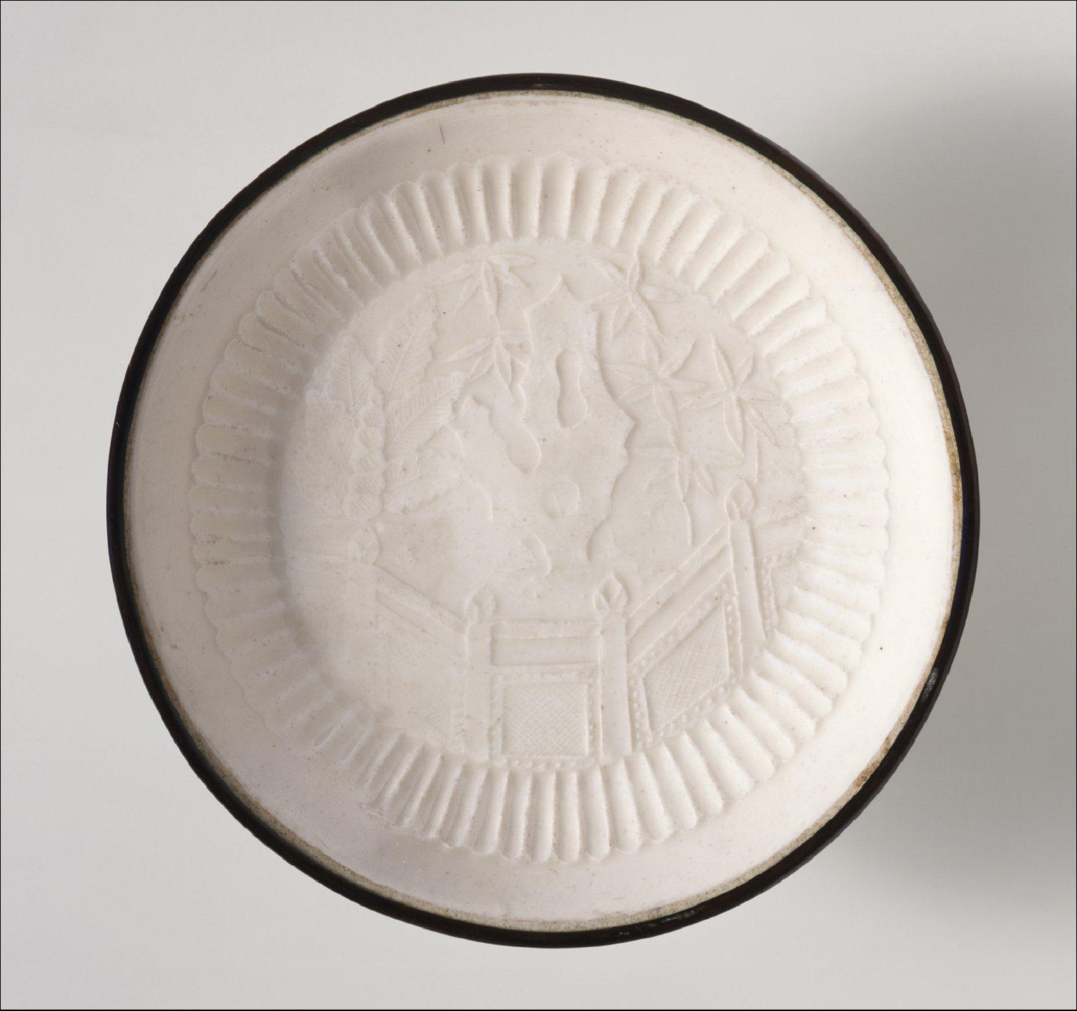 Dish (Pan) with Garden Landscape