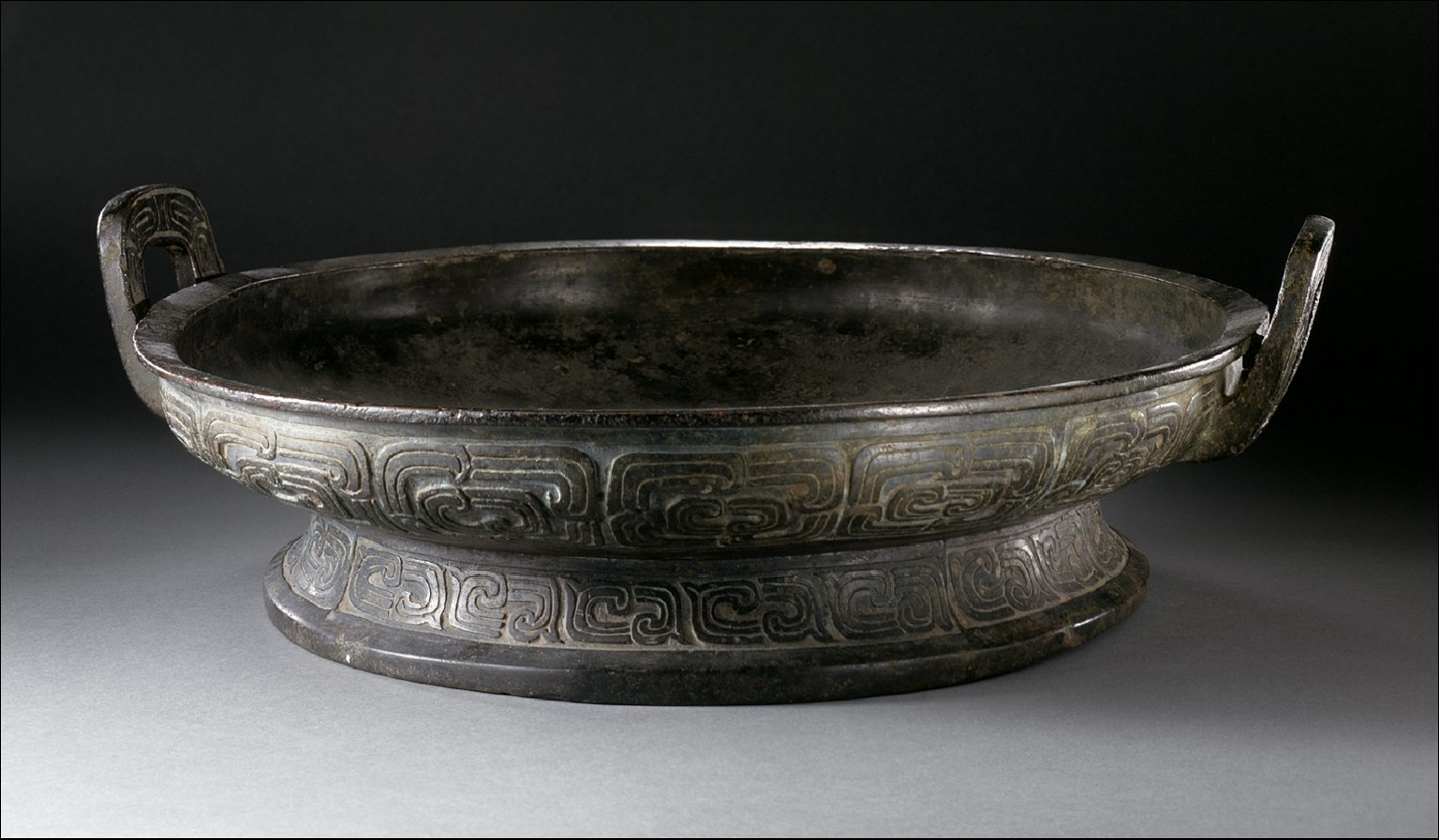 Basin (Pan) with Double Spirals