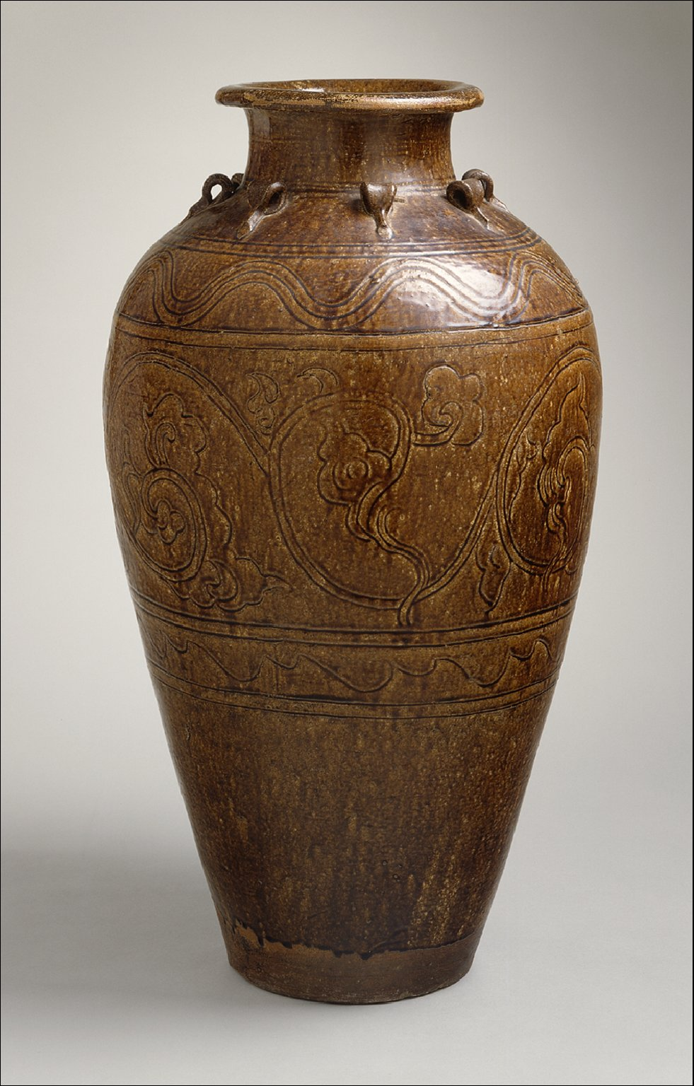 Large Martavan Jar with Dragons and Geometric Decoration
